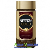 Кофе растворимый Nescafe Gold 190 г стекло